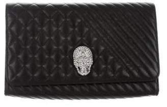 Philipp Plein 2017 Quilted Leather Convertible Clutch