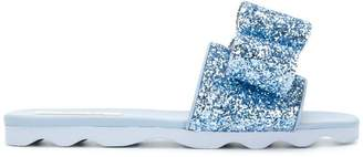Polly Plume glitter bow sandals