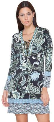 Hale Bob Marlena Beaded Jersey Dress
