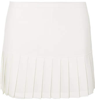 Tory Sport Pleated Stretch-jersey Mini Skirt - White