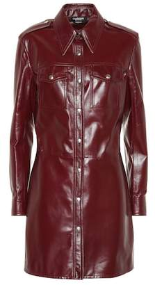 Calvin Klein 205W39NYC Leather shirt dress