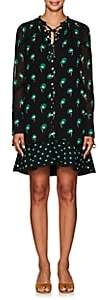 Proenza Schouler Women's Floral Silk Chiffon Minidress - Black Multi