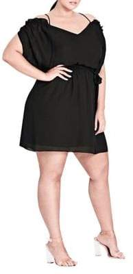 City Chic Plus Strapped Up Tunic Dress