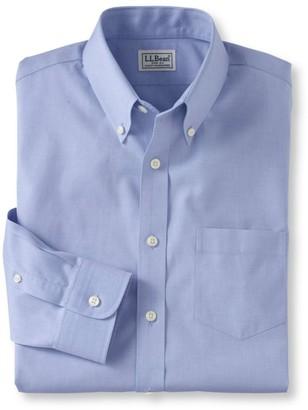 L.L. Bean L.L.Bean Men's Wrinkle-Free Pinpoint Oxford Cloth Shirt, Slim Fit