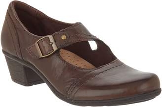 Earth Origins Leather Mary Janes with Buckle - Meredith