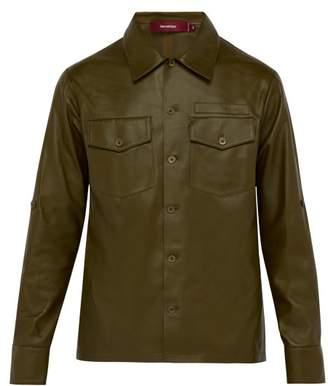 Sies Marjan Oliver Leather Shirt - Mens - Green