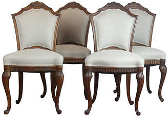 One Kings Lane Vintage French Side Chairs - Set of 4