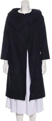 Roland Mouret Tweed Long Coat