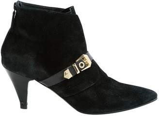 Sandro Black Suede Ankle boots