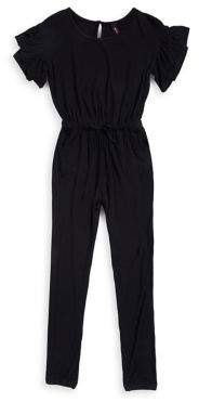 Lord & Taylor Design Lab Girl's Ruffle-Trimmed Jumpsuit