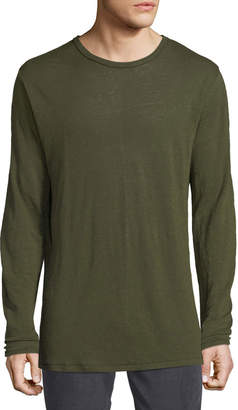 Rag & Bone Men's Owen Linen Long-Sleeve Slub T-Shirt