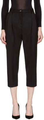 Dolce & Gabbana Black Cropped Trousers