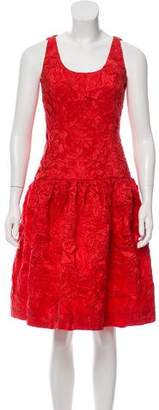 Oscar de la Renta Textured Silk A-Line Dress