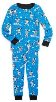 Hatley Little Boy's & Boy's Athletic Astronauts Two-Piece Sweatshirt and Pants Pajama Set
