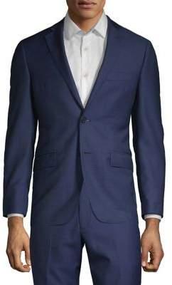 Black & Brown Black Brown Italian Wool Suit Separate Jacket