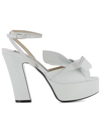 N°21 White Leather Sandals