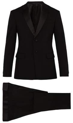 Prada Two Button Virgin Wool Blend Tuxedo - Mens - Black