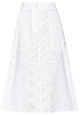 Valentino Cotton-blend broderie anglaise skirt