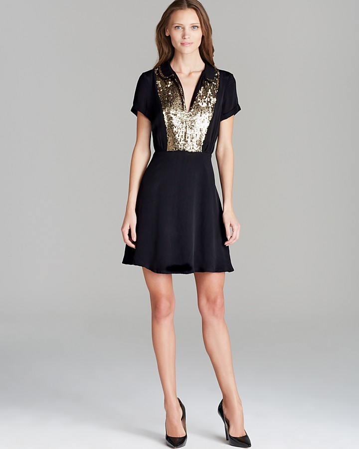 Juicy Couture Dress - Gold Sequin