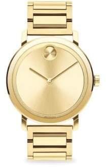 Movado Bold Stainless Steel Analog Bracelet Watch - Gold
