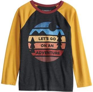 "Boys 4-12 Jumping Beans Retro ""Let's Go On An Adventure"" Raglan Tee"