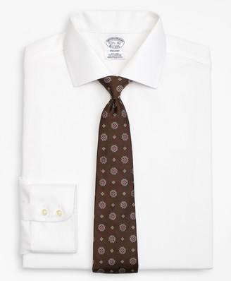 Brooks Brothers Regent Fitted Dress Shirt, Non-Iron Textured Stripe