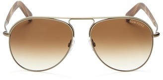 Tom Ford Cody Aviator Sunglasses, 56mm $445 thestylecure.com