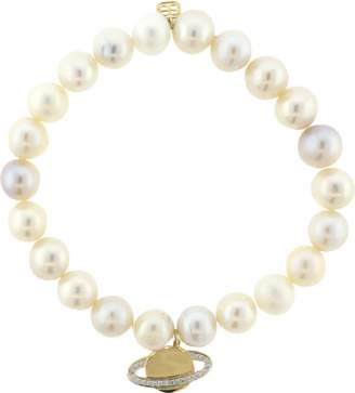 Sydney Evan Diamond Saturn Charm Bracelet