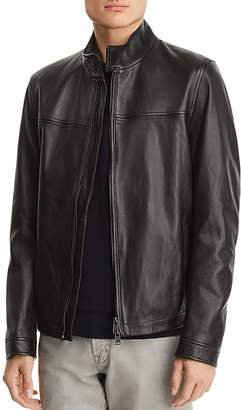 BOSS Nerous Leather Moto Jacket