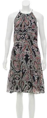 L'Agence Silk Paisley Dress