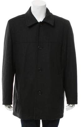 Tommy Hilfiger Woven Button-Up Coat
