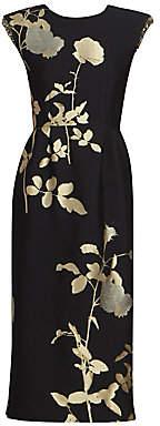 Dries Van Noten Women's Floral Sequin Sheath Dress