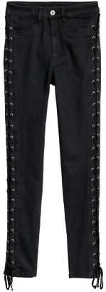 H&M Petite Fit Pants with Laces - Black