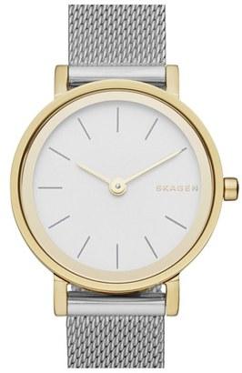 Women's Skagen 'Hald' Mesh Strap Watch, 26Mm $155 thestylecure.com