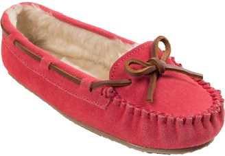 Minnetonka Women's Cally Hot Pink Moc Slippers