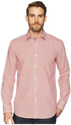 Bugatchi Shaped Fit Grid Print Woven Shirt Men's Clothing