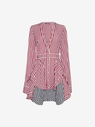 Alexander McQueen Stripe Mini Shirt Dress