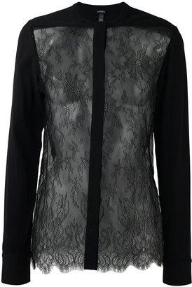 La Perla 'Leisuring' lace detail shirt $2,268 thestylecure.com