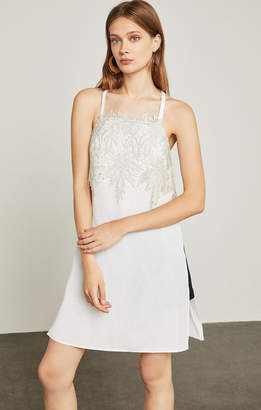 BCBGMAXAZRIA Lace-Embroidered Tunic Tank Top