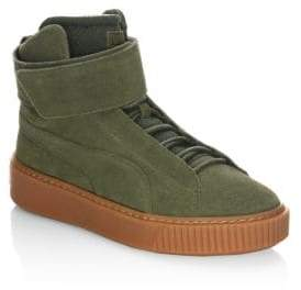 Puma Platform Round Toe Suede Sneakers