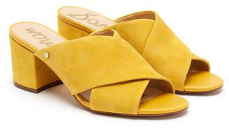 Sam Edelman Stanley Sunset Yellow Suede Mules