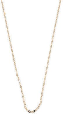 Made In Italy 14k Gold Diamond Cut Flat Chain Necklace