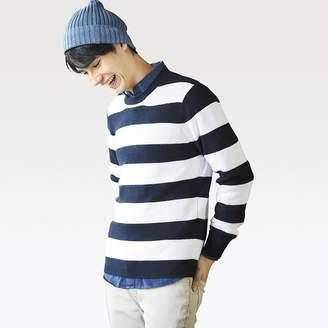 Uniqlo MEN Cotton Cashmere Crew Neck Long Sleeve Sweater