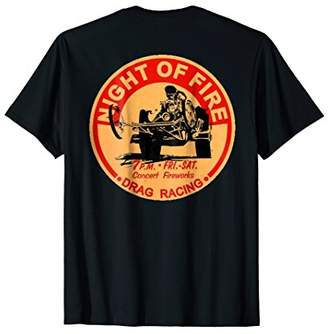 Retro Drag Racing T-Shirt. Night of Fire!