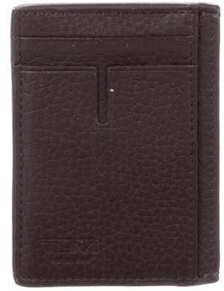 Tumi Leather Money Clip Card Holder