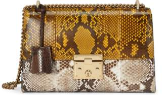 Gucci Padlock medium python shoulder bag