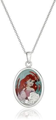 Disney Girls' Plated Little Mermaid Ariel Shaker Pendant Necklace