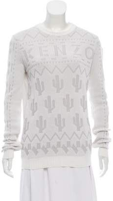 Kenzo Long Sleeve Rib Knit Sweater