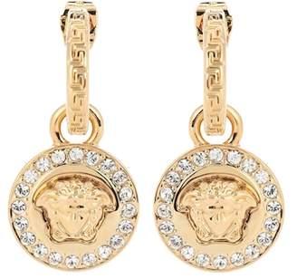 Versace Greca and Medusa earrings