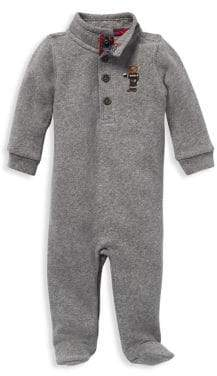 Ralph Lauren Childrenswear Baby Boy's Cotton-Blend Fleece Coveralls